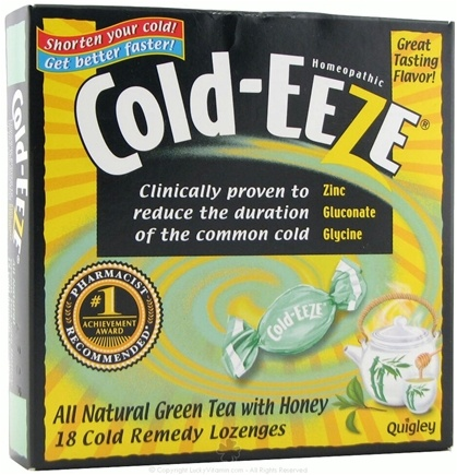 DROPPED: Cold-Eeze - Lozenges All Natural Green Tea with Honey Flavor - 18 Lozenges Formerly by Quigley