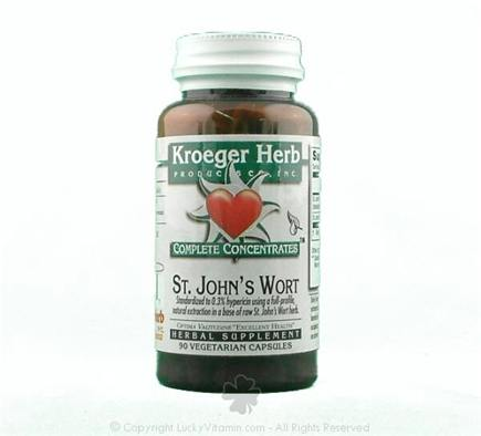DROPPED: Kroeger Herbs - Complete Concentrate Saint John's Wort - 90 Vegetarian Capsules CLEARANCE PRICED