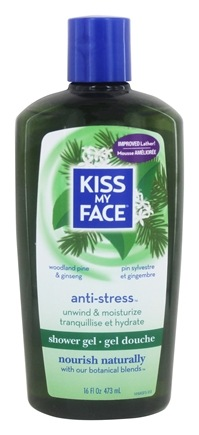 Kiss My Face - Bath & Shower Gel Relaxing Anti-Stress Woodland Pine & Ginseng - 16 oz.