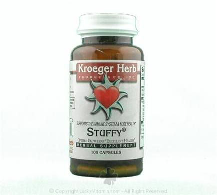 DROPPED: Kroeger Herbs - Herbal Combination Stuffy - 100 Capsules CLEARANCE PRICED