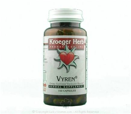 DROPPED: Kroeger Herbs - Vyren Clearance Priced - 100 Capsules