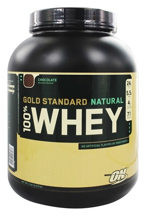 DROPPED: Optimum Nutrition - 100% Whey Gold Standard Natural Protein Chocolate - 5 lbs.