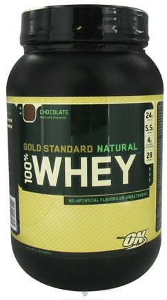 DROPPED: Optimum Nutrition - 100% Whey Gold Standard Natural Protein Chocolate - 2 lbs.