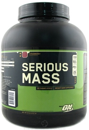 DROPPED: Optimum Nutrition - Serious Mass Strawberry - 6 lbs.
