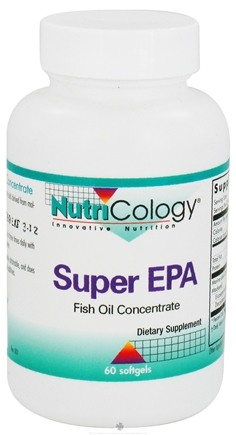 DROPPED: Nutricology - Super EPA Fish Oil Concentrate - 60 Softgels