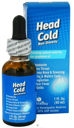 DROPPED: NatraBio - Head Cold - 1 oz.