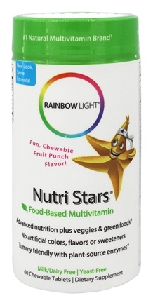 Rainbow Light - NutriStars Chewable Multivitamin Fruit Punch - 60 Chewable Tablets