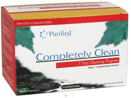 DROPPED: Purified Brand - Completely Clean 7 Day Cleansing System - 42 Capsules CLEARANCE PRICED