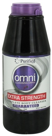 DROPPED: Purified Brand - Omni Cleansing Drink Extra Strength Complete Body Cleanser Grape Flavor - 16 oz.