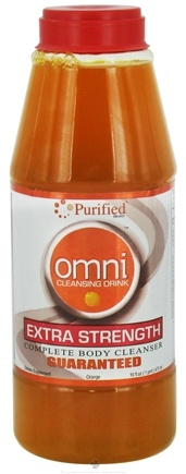 DROPPED: Purified Brand - Omni Cleansing Drink Extra Strength Complete Body Cleanser Orange Flavor - 16 oz. CLEARANCE PRICED