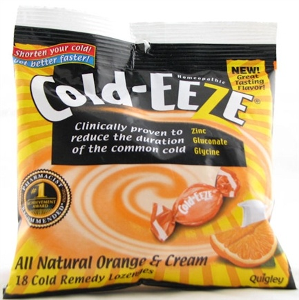 DROPPED: Cold-Eeze - Lozenges All Natural Orange & Cream Flavor - 18 Lozenges