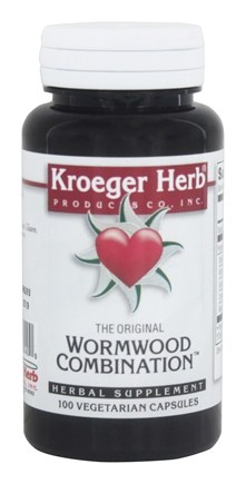 Kroeger Herbs - Herbal Combinations Wormwood Combination - 100 Capsules