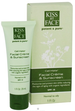 DROPPED: Kiss My Face - Potent & Pure Cell Mate Facial Cream and Sunscreen 10 SPF - 1 oz. CLEARANCE PRICED