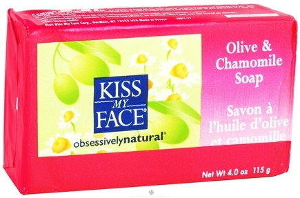 DROPPED: Kiss My Face - Bar Soap Olive & Chamomile - 4 oz. CLEARANCE PRICED