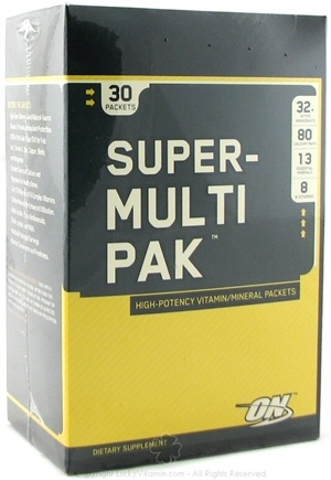 DROPPED: Optimum Nutrition - Super Multi Pak - 30 Packet(s) CLEARANCE PRICED