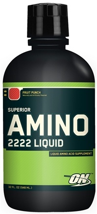 DROPPED: Optimum Nutrition - Superior Amino 2222 Liquid Fruit Punch - 32 oz. CLEARANCE PRICED