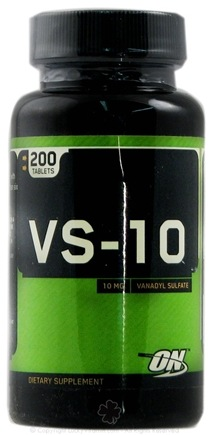 DROPPED: Optimum Nutrition - VS-10 Vanadyl Sulfate - 200 Tablets CLEARANCE PRICED