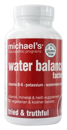 Michael's Naturopathic Programs - Water Balance Factors - 90 Vegetarian Tablets