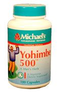 DROPPED: Michael's Naturopathic Programs - Yohimbe 500 mg. - 50 Vegetarian Capsules