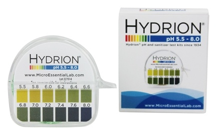Micro Essential Laboratory - pH Testing Hydrion Papers 5.5-8.0 Range