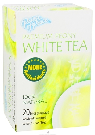 DROPPED: Prince of Peace - Premium Peony White Tea - 20 Tea Bags CLEARANCED PRICED