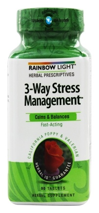 DROPPED: Rainbow Light - 3-Way Stress Management System with California Poppy & Valerian - 90 Tablets