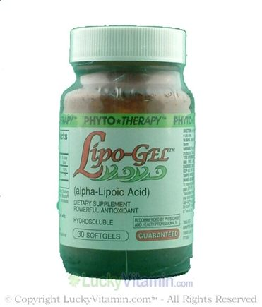 DROPPED: Phyto Therapy - Lipo-Gel (Alpha Lipoic Acid) Hydrosoluble - 30 Softgels