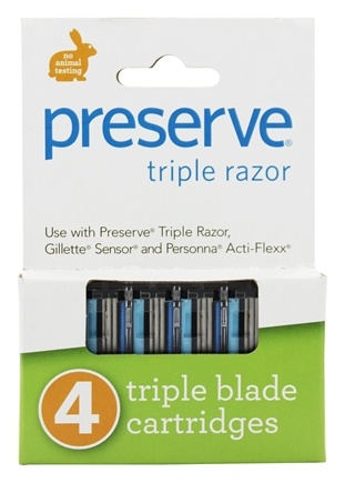 Preserve - Razor Blade Replacement Triple Blade - 4 Cartridge(s)
