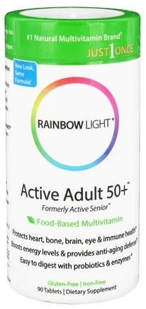 Rainbow Light - Active Adult 50+ Multivitamin - 90 Tablets