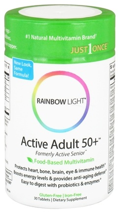 DROPPED: Rainbow Light - Active Adult 50+ Multivitamin - 30 Tablets