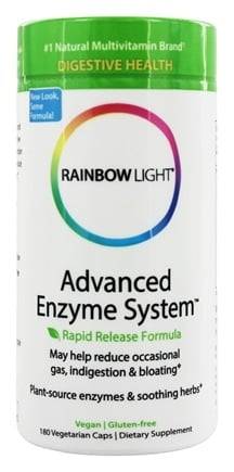 Rainbow Light - Advanced Enzyme System - 180 Vegetarian Capsules