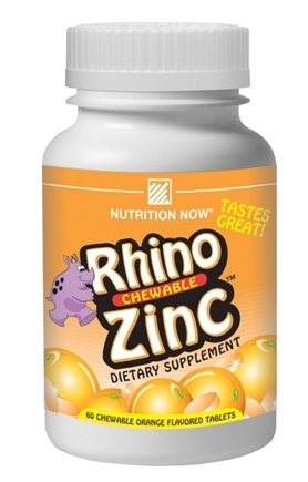 DROPPED: Nutrition Now - Rhino Zinc- Chewable - 60 Chewable Tablets