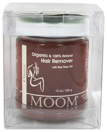 Moom - Botanical Hair Remover Jar with Tea Tree Oil - 12 oz.