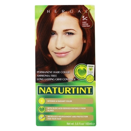 Naturtint - Permanent Hair Colorant 5C Light Copper Chestnut - 4.5 oz.