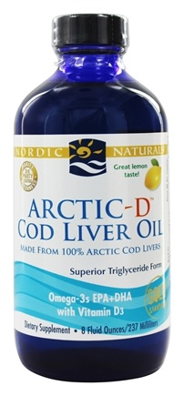 Nordic Naturals - Arctic-D Cod Liver Oil with Vitamin D Lemon - 8 oz.