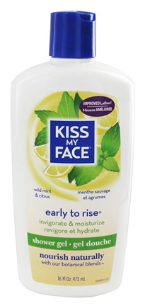 Kiss My Face - Bath & Shower Gel Early To Rise Wild Mint & Citrus - 16 oz.