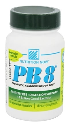 Nutrition Now - PB 8 Pro-Biotic Acidophilus for Life - 60 Vegetarian Capsules