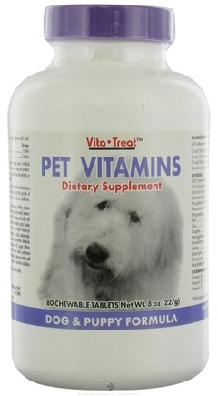 DROPPED: Nutrition Now - Pet Vitamin Dog/Puppy - 180 Tablets