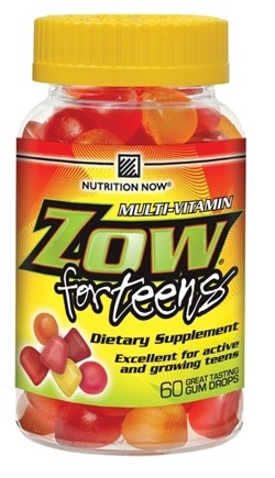 DROPPED: Nutrition Now - Zow Multi-Vites for Teenage Boys - 90 Tablets