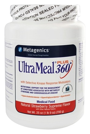DROPPED: Metagenics - UltraMeal Plus 360 Medical Food Strawberry Supreme - 25 oz.