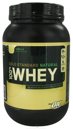 DROPPED: Optimum Nutrition - 100% Whey Gold Standard Natural Protein Vanilla - 2 lbs.