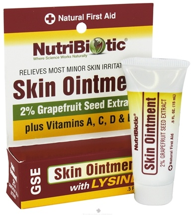 Nutribiotic - GSE Skin Ointment 2% with Lysine - 0.5 oz.
