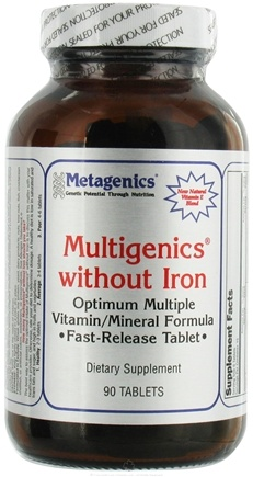 DROPPED: Metagenics - Multigenics without Iron - 90 Tablets CLEARANCE PRICED
