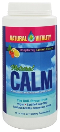 Natural Vitality - Natural Calm Anti-Stress Drink Raspberry Lemon Flavor - 16 oz.