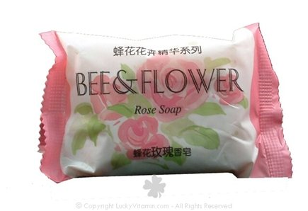 DROPPED: Bee & Flower Soap - Bar Soap Rose - 2.7 oz.