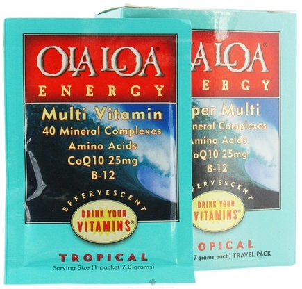 DROPPED: Ola Loa - Energy Super Multi-Vitamin Effervescent Travel Pack Tropical - 5 Packet(s)