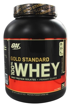 e783264bf Optimum Nutrition - 100% Whey Protein Isolado Gold Standard Sabor Chocolate  Duplo - 5 lbs