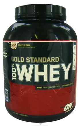 DROPPED: Optimum Nutrition - 100% Whey Gold Standard Protein Rocky Road - 5 lbs. CLEARANCE PRICED