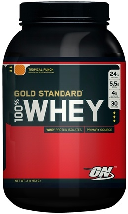 DROPPED: Optimum Nutrition - 100% Whey Gold Standard Protein Tropical Punch - 2 lbs. CLEARANCE PRICED