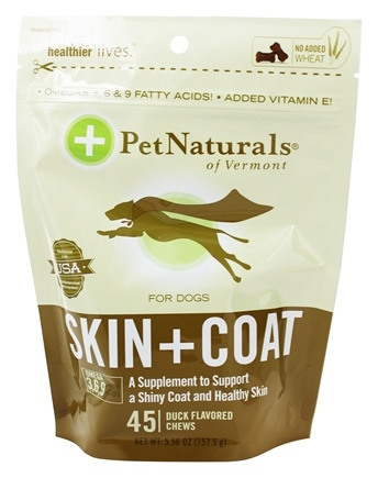 DROPPED: Pet Naturals of Vermont - Skin & Coat Support for Dogs Soft Chews - 45 Chewables